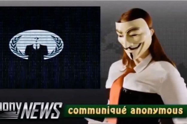 Capture d'écran de la vidéo de revendication publiée mardi.