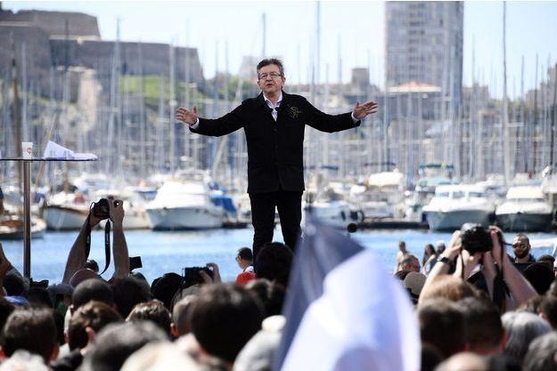 Jean-Luc Mélenchon à Marseille, le 9 avril dernier.