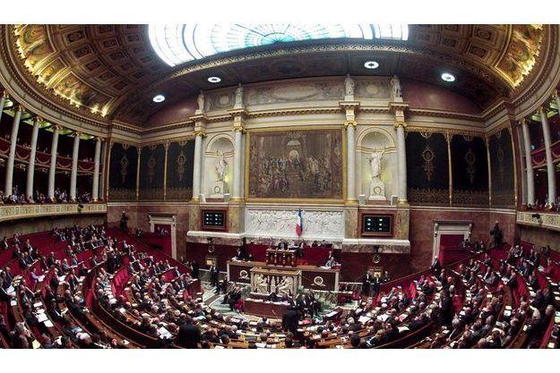 L'hémicycle du Palais Bourbon, siège de l'Assemblée nationale.