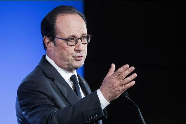 François Hollande à l'université de Jussieu, le 29 septembre.