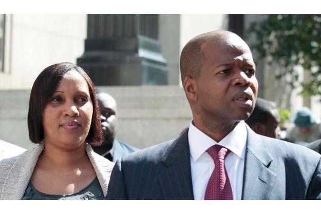 Nafissatou Diallo et son avocat, Kenneth Thompson, le 22 août dernier.