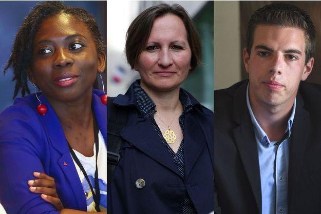 De gauche à droite : Danièle Obono, Laurence Vanceunebrock-Mialon, Ludovic Pajot.