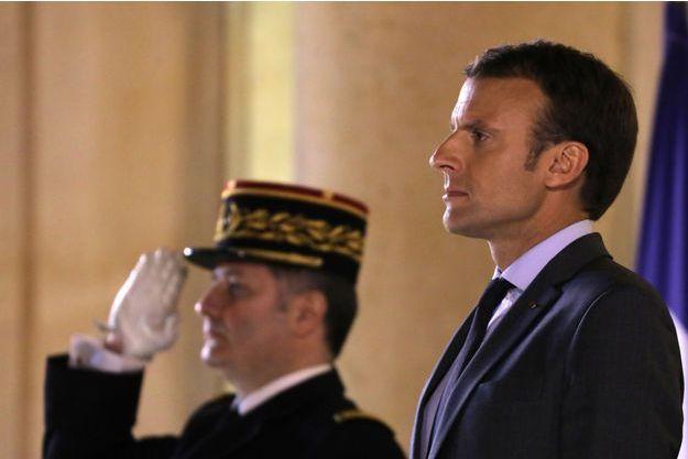 Emmanuel Macron, mardi soir à l'Elysée.