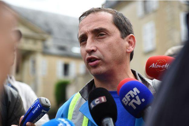 Vincent Labrousse, délégué CGT, ici en septembre à Poitiers.