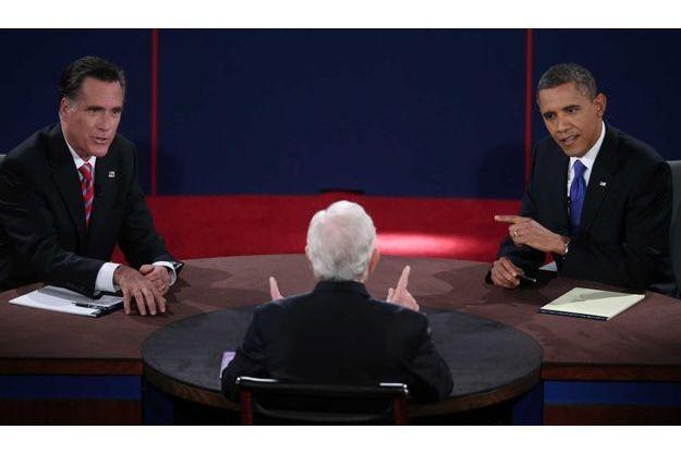 Obama et Romney lors du troisième débat.