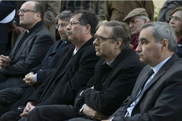 Emmanuel Gougaud, Haim Korsia, Anouar Kbibech, Jérôme Beau et Francois Clavairoly, le 13 avril 2016.