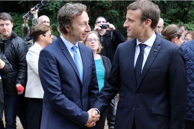 Emmanuel Macron et Stéphane Bern ici à Marly-le-Roi, en septembre dernier