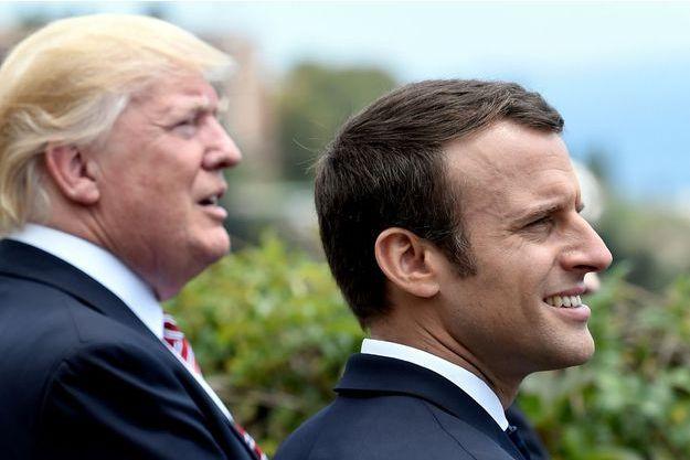 Emmanuel Macron et Donald Trump lors du G7.