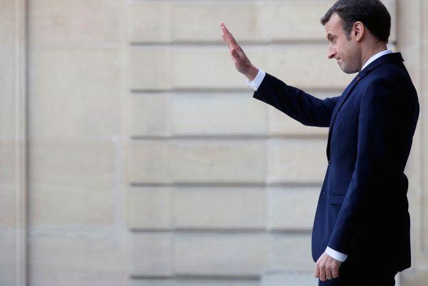 Emmanuel Macron à l'Elysée le 19 décembre/