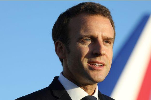 Emmanuel Macron à Noumea jeudi.