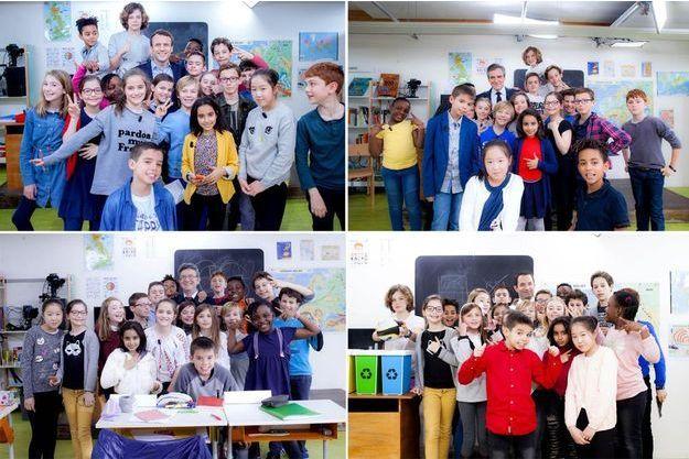 Les photos de classe des candidats.