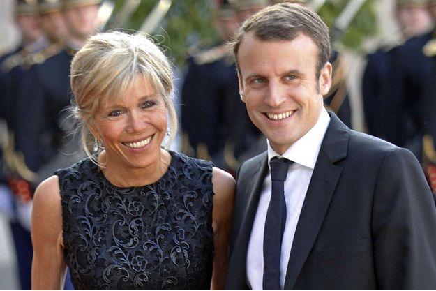 Brigitte et Emmanuel Macron en juin 2015.