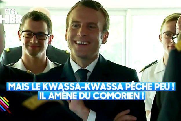 """Les images d'Emmanuel Macron ont été diffusées dans l'émission """"Quotidien""""."""