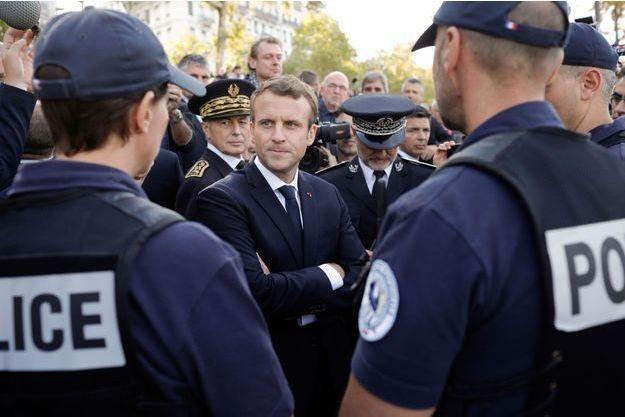Emmanuel Macron le 28 septembre 2017 à Lyon.