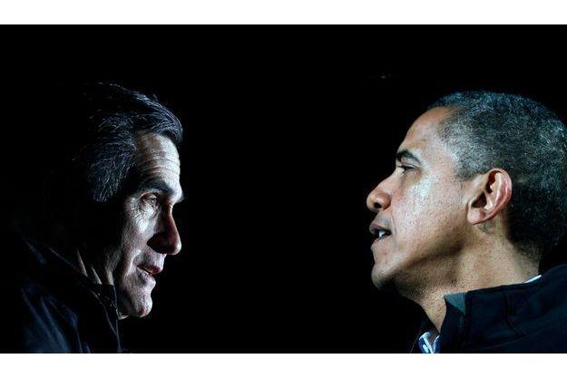 Mitt Romney face à Barack Obama (Photomontage)