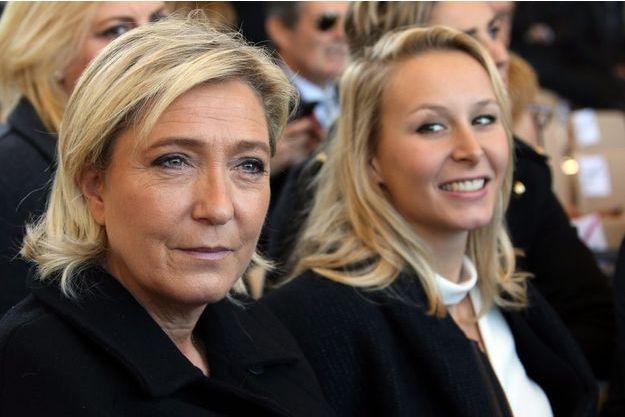 Marine Le Pen et Marion Maréchal-Le Pen à Nice le 15 octobre.