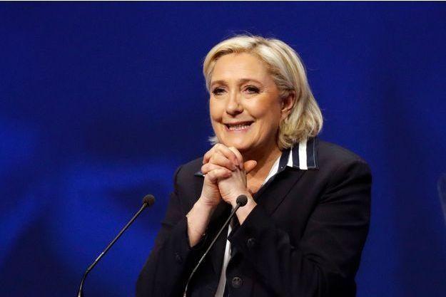 Marine Le Pen en meeting à Nice, le 27 avril 2017.