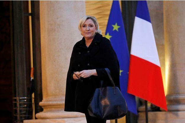 Marine Le Pen, reçue à l'Elysée mardi.