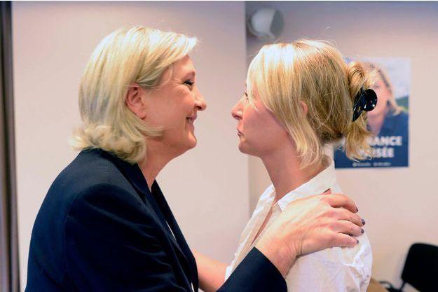 Marine Le Pen et sa nièce Marion Maréchal-Le Pen en 2016.
