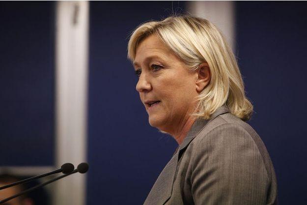 La présidente du FN Marine Le Pen en mars dernier.