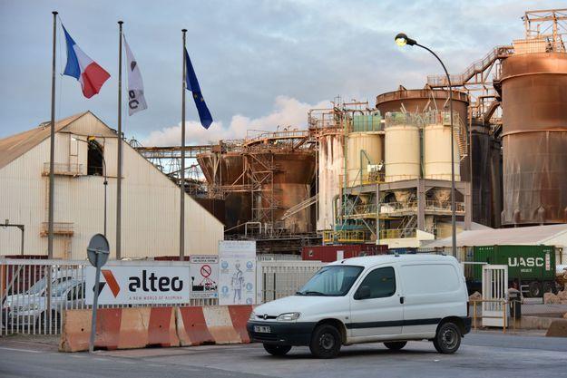 L'usine Altéo de Gardanne (Bouches-du-Rhône)