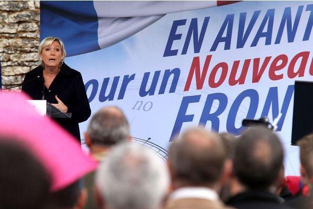 Marine Le Pen a fait sa rentrée politique samedi depuis le petit village de Brachay.