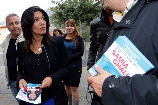 Samia Ghali en campagne, le 15 octobre dernier.