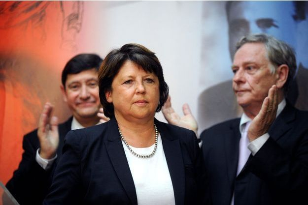 Martine Aubry à Lille lors de l'hommage du PS à Pierre Mauroy.