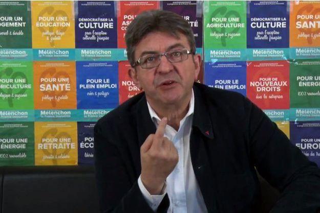 Jean-Luc Mélenchon dans une vidéo diffusée vendredi.
