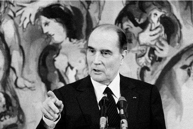 Voyage officiel du president Mitterrand en Israel en 1986.