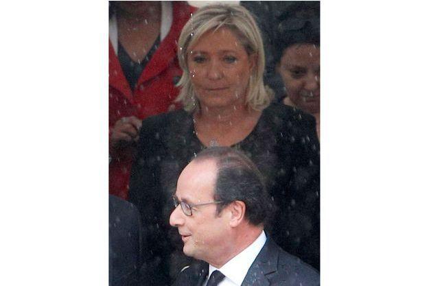 François Hollande et Marine Le Pen.