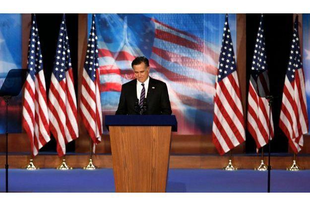 Mitt Romney lors de son discours mardi soir, à Boston.