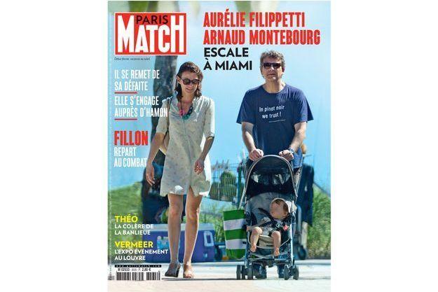 Arnaud Montebourg et Aurélie Filippetti en Une de Paris Match numéro 3535.