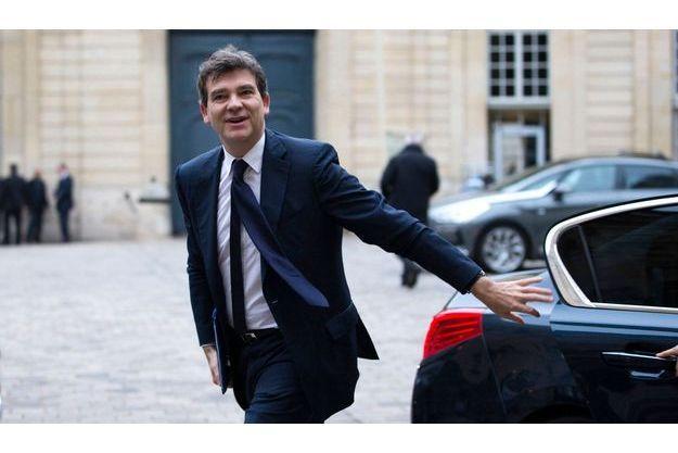 Arnaud Montebourg dans la cour de Matignon, le 26 octobre dernier.