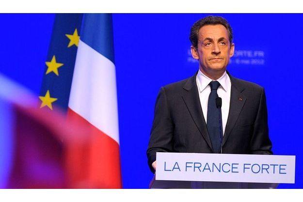 Nicolas Sarkozy, à la Mutualité, à Paris