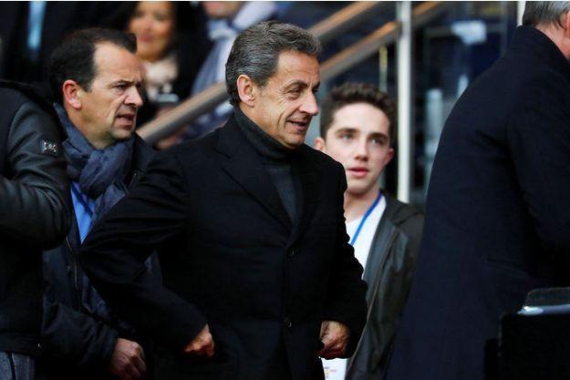 Nicolas Sarkozy au Parc des Princes en 2016.