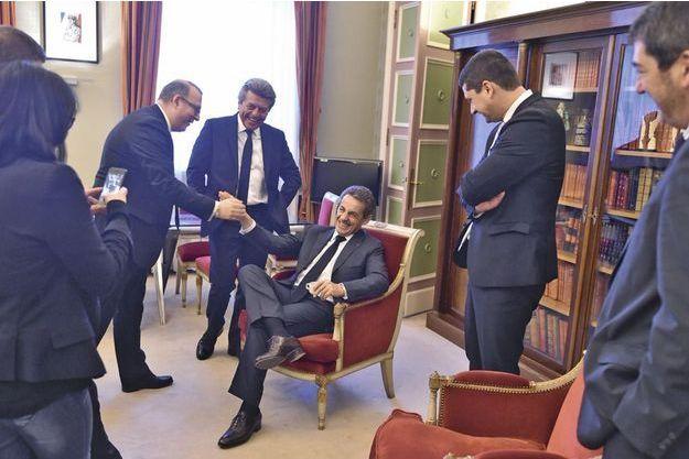 """Nicolas Sarkozy """"détendu"""" pour les départementales."""