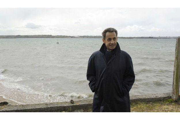 Nicolas Sarkozy le 17 avril dernier, à Carantec dans le Finistère.