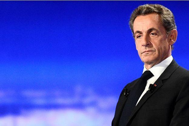 Nicolas Sarkozy lors du débat des candidats à la primaire des Républicains, le 13 octobre 2016.
