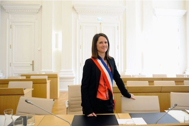 Johanna Rolland, maire de Nantes, en avril 2014.