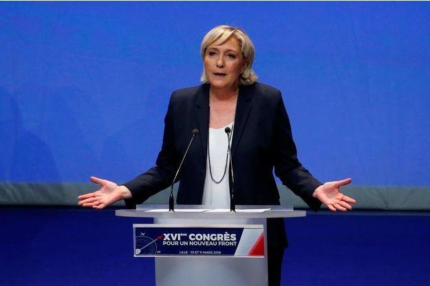 Marine Le Pen à Lille, le 11 mars 2018.