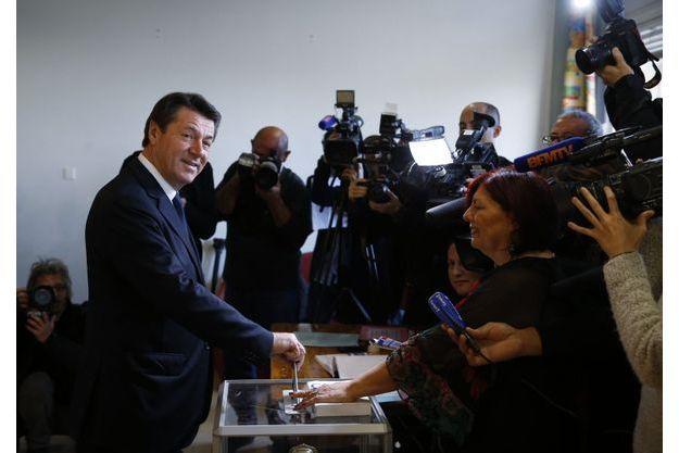 Christian Estrosi a voté ce dimanche à Nice.