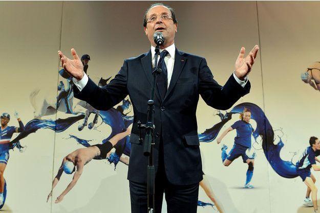 François Hollande au club France, le 30 juillet 2012, pendant les Jeux de Londres