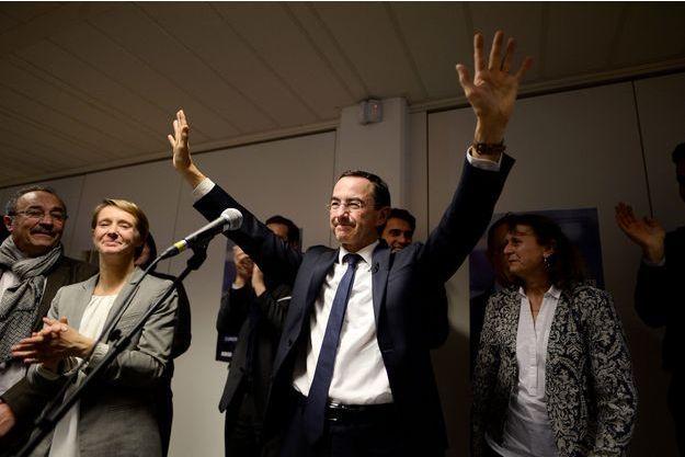 Bruno Retailleau, dimanche soir, après l'annonce de sa victoire.