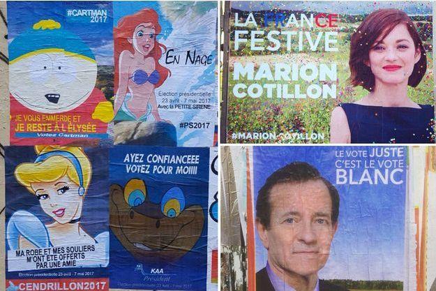 Quelques affiches des artistes Jaeraymie et Combo.