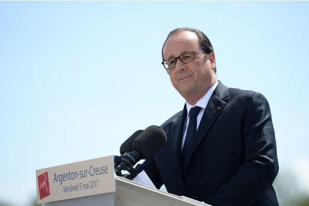 François Hollande était vendredi 5 mai à Argenton-sur-Creuse.