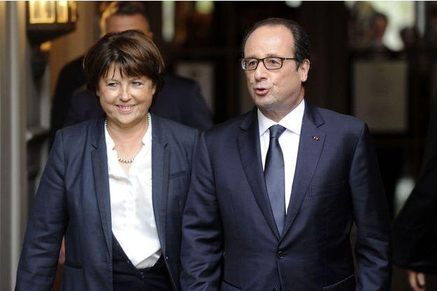 Martine Aubry accueille François Hollande à Lille, le 22 novembre 2014.