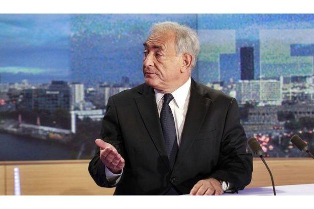 DSK, dimanche dernier, sur le plateau du JT de 20h00 de TF1.