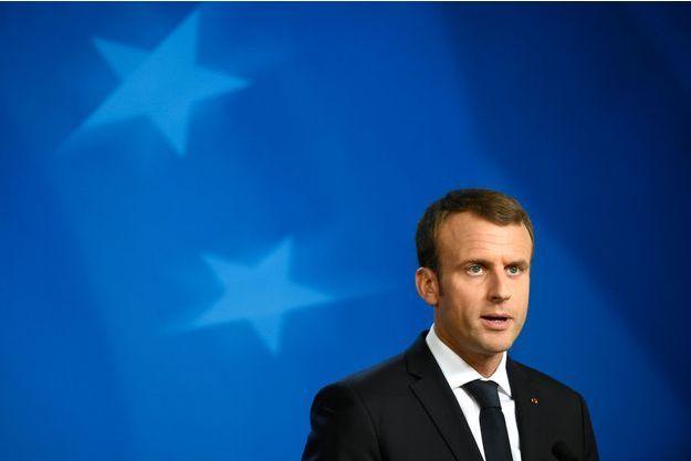 Emmanuel Macron au conseil européen, à Bruxelles, vendredi.