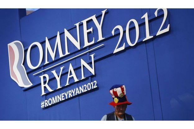 A Tampa, en Floride, un militant républicain lors de la convention du parti.